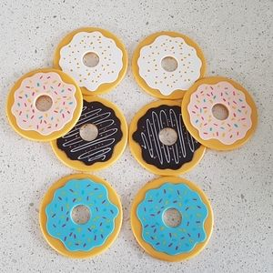 CLEARANCE Set of 8 Doughnuts Coasters (NEW)